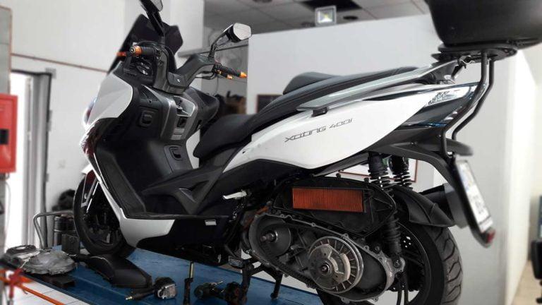 kymco xciting 400i αλλαγη ιμαντα scooter