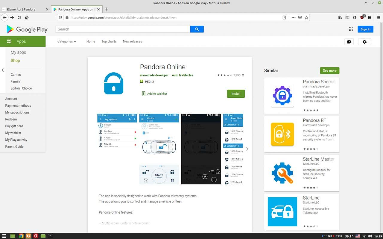 Pandora smart moto Online apps
